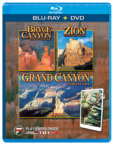 Bryce, Zion and North Rim of the Grand Canyon Blu-ray + DVD